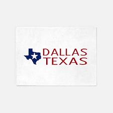 Texas: Dallas (State Shape & Star) 5'x7'Area Rug