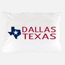 Texas: Dallas (State Shape & Star) Pillow Case