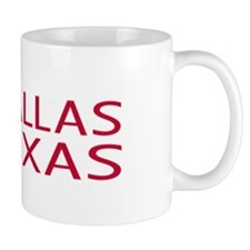 Dallas, Texas with State Shape & Star Mug