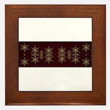 red stars Framed Tile