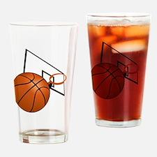 Cute Basket ball Drinking Glass