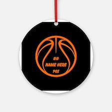 Personalized Basketball Name Number Orange Black R
