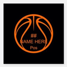 Personalized Basketball Name Number Orange Black S