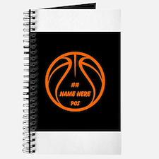 Personalized Basketball Name Number Orange Black J