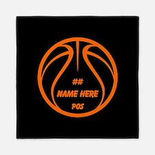 Personalized Basketball Name Number Orange Black Q