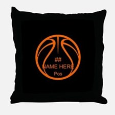Personalized Basketball Name Number Orange Black T