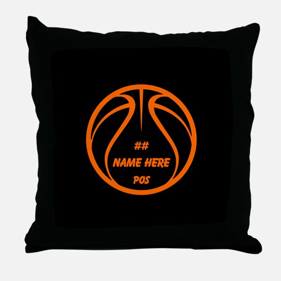 Personalized Basketball Name Number Orange Black T