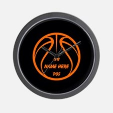 Personalized Basketball Name Number Orange Black W