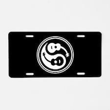 Yin-String Aluminum License Plate