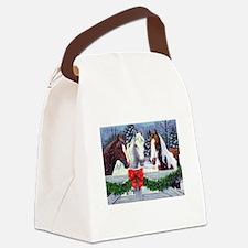 Christmas Horses Canvas Lunch Bag