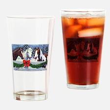 Christmas Horses Drinking Glass
