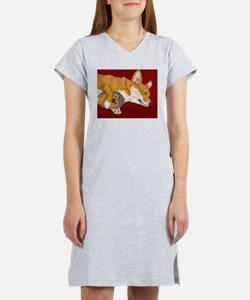 Cute Pembroke welsh corgi Women's Nightshirt