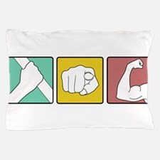 festivus retro illustration Pillow Case
