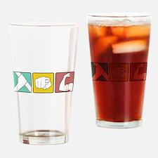 FESTIVUS™ retro illustration Drinking Glass
