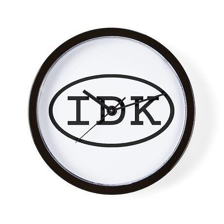 IDK Oval Wall Clock