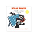 "Solar Vs. Vampires Square Sticker 3"" X 3&quot"