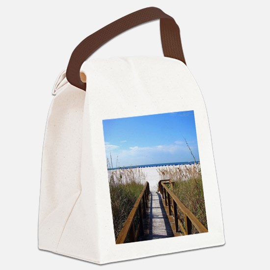 Cool Beach Canvas Lunch Bag