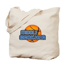 Middle Brother Basketball Tote Bag