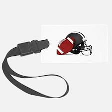 Football And Helmet Luggage Tag
