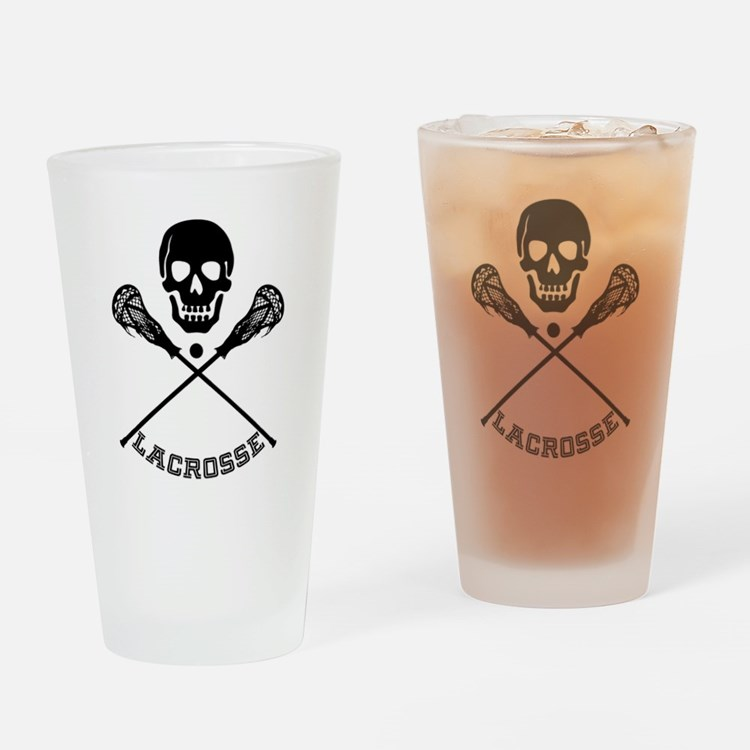 Cute Lacross player Drinking Glass