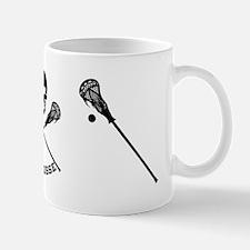Skull and Lacrosse Sticks Mugs