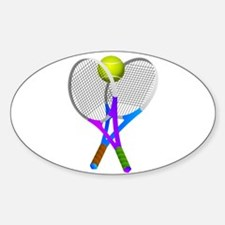 Tennis Rackets and Ball Decal