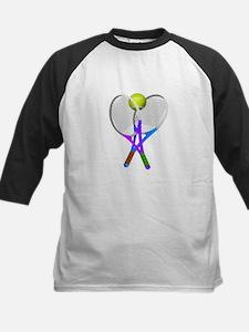 Tennis Rackets and Ball Baseball Jersey