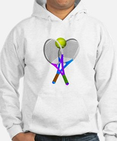 Tennis Rackets and Ball Hoodie