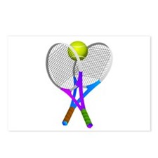Tennis Rackets and Ball Postcards (Package of 8)