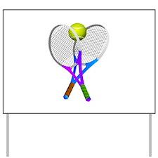 Tennis Rackets and Ball Yard Sign