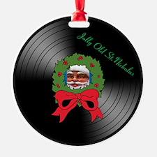 Jolly Old St. Nicholas Vinyl Album Ornament