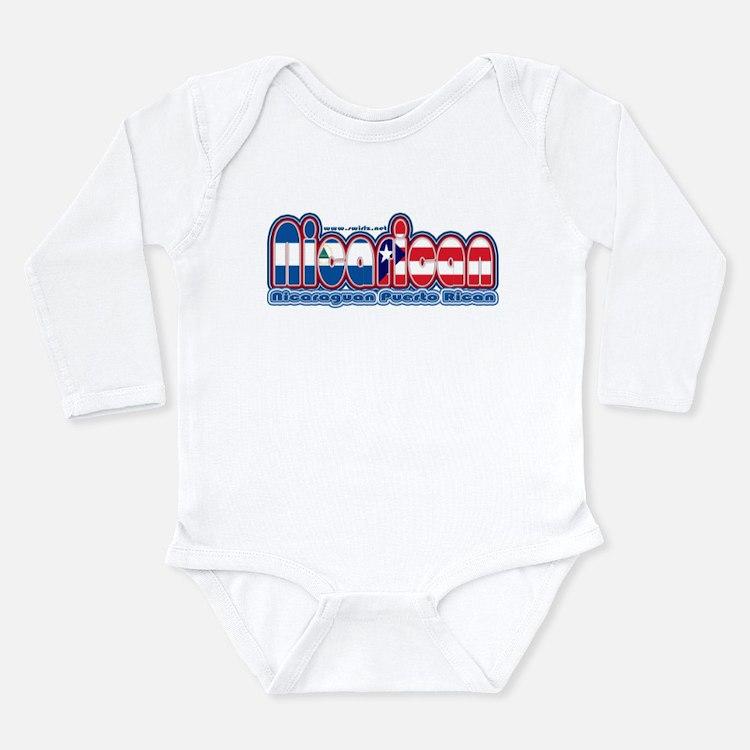 Cute Nicaraguan Long Sleeve Infant Bodysuit