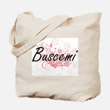 Buscemi surname artistic design with Flow Tote Bag