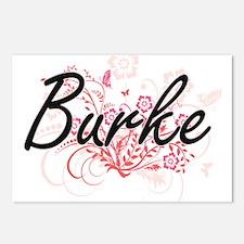 Burke surname artistic de Postcards (Package of 8)
