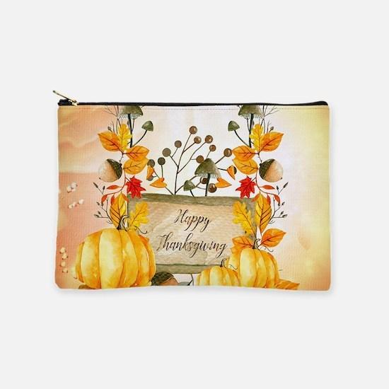 Happy thanksgiving with pumpkin Makeup Bag