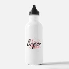 Bryan surname artistic Water Bottle