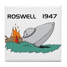 Roswell Crash Tile Coaster