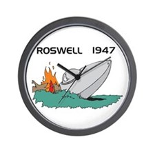 Roswell Crash Wall Clock