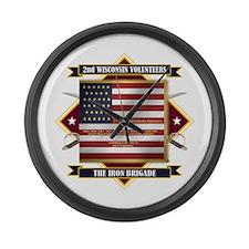 2nd Wisconsin Volunteers Large Wall Clock