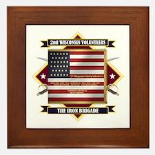 2nd Wisconsin Volunteers Framed Tile