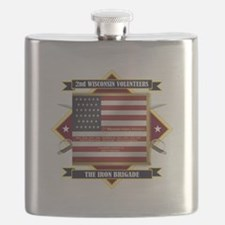 2nd Wisconsin Volunteers Flask