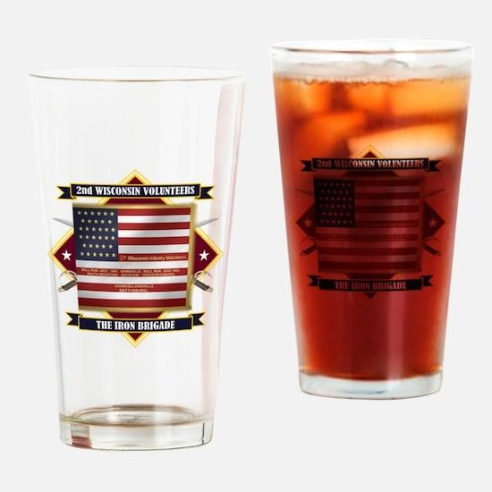 2nd Wisconsin Volunteers Drinking Glass