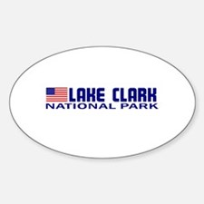 Lake Clark National Park Oval Decal