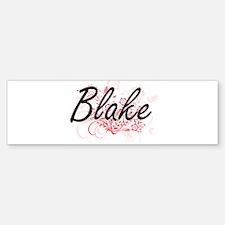 Blake surname artistic design with Bumper Bumper Bumper Sticker