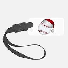 Christmas Baseball Luggage Tag