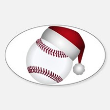 Christmas Baseball Decal