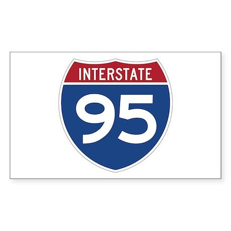 Interstate 95 Rectangle Sticker