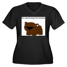 Cute Wombat Women's Plus Size V-Neck Dark T-Shirt