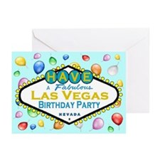 Have A Fabulous Las Vegas Birthday Party Cards 10