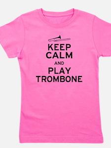 Funny Trombonist Girl's Tee